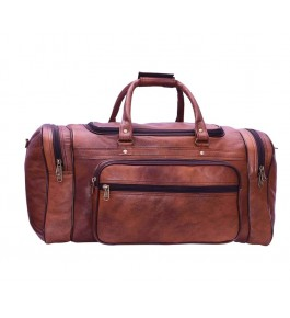E.I. Leather Brown Travel Bag By Anfal International