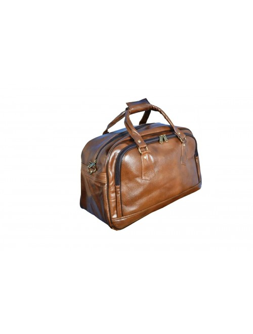 E.I. Leather Brown Duffel Bag By Anfal International
