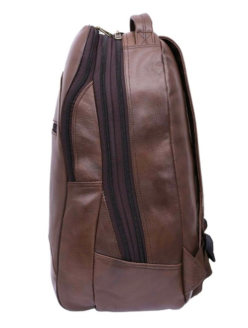 E.I. Leather Brown Backpack By Anfal International