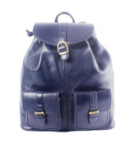 E.I. Leather Blue Backpack For Girls By Anfal International