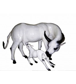Leather Toy Of Indore Cow & Calf Animal By Appu Arts