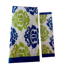 Bagru Hand Block Printed Cotton Multicolor Double Bedsheet with Two Pillow Covers for Double Bed