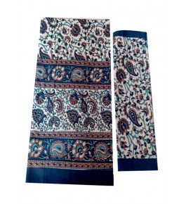 Bagru Hand Block Printed Cotton Double Bedsheet with 2 Pillow Covers