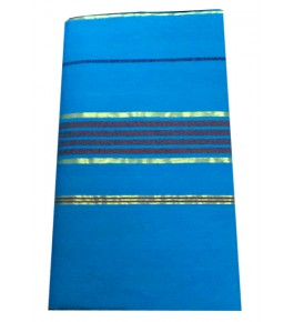 Balaramapuram Handloom Designer Sky Blue Cotton Saree for Women