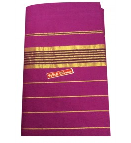 Balaramapuram Handloom Designer Dark Pink Cotton Saree with Blouse for Women