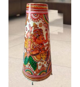 Andhra Pradesh Leather Puppetry Ganesha Printed Decorative Showpiece & Lamp