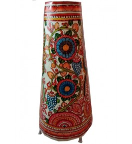 Andhra Pradesh Leather Puppetry Floral Decorative Showpiece & Lamp