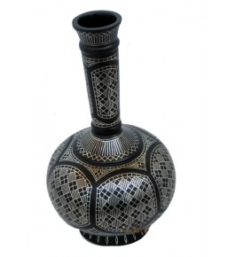 Black Metal Bidri Art Work Moghal Goblate Tarkashi Decorative  Showpiece