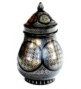 Black Metal Bidri Art Work  Jam Pot Mahatabi Tarkashi Decorative  Showpiece
