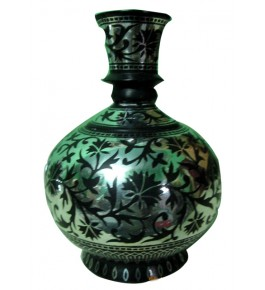 Black Metal Bidri Art Work Ball Mahtabi Tarkashi Decorative  Showpiece