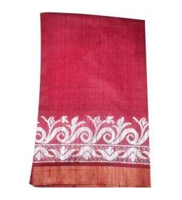 Attractive Border Weave Champa Silk Beautiful Saree With Blouse For Women