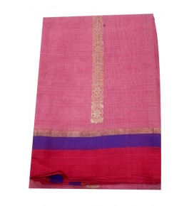 Champa Silk Designer Pink Saree With Blouse Piece For Women