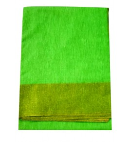 Champa Silk Saree with Golden Border With Blouse Piece For Women
