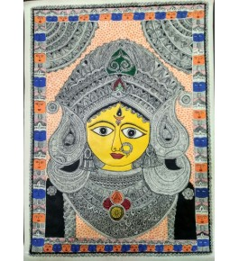 Madhubani Painting Of Maa Tara & Maa Shakti On Paper