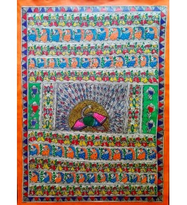 Madhubani Painting In Godhna Style By Sita The Culture
