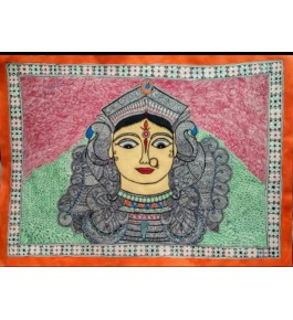 Madhubani Painting Of Maa Tara On Paper