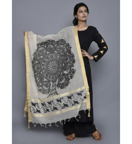 Madhubani Painting Silk Dupatta By Sita The Culture