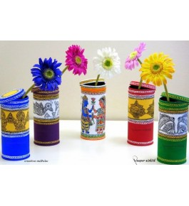 Madhubani Painting Beautiful Handmade Flower Pot