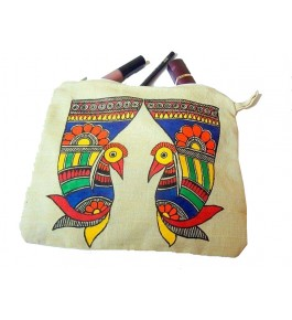 Madhubani Painting Beautiful Jute Handmade Bag For Women