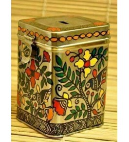 Madhubani Painting Handmade Coin Box By Sita The Culture