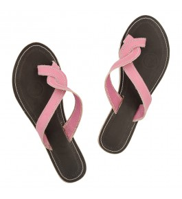 Premium Quality Beautiful Pink Upper Kolhapuri Leather Chappal Sandal For Women