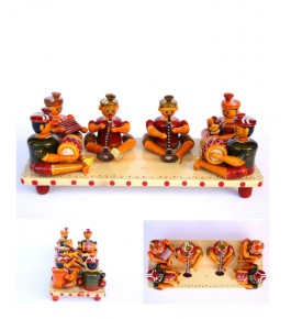 Authentic Folk Musicians Etikoppaka Wooden Toy of Shehnai