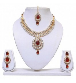 Gold Plated Bridal Jewelry Necklace Set
