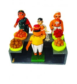 Handicraft Beautiful Vegetables Selling Design Traditional Kondapalli Bommallu Toy For Home Decor