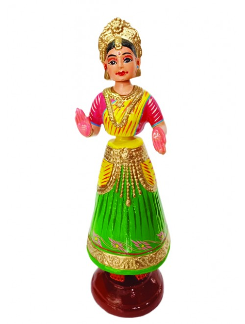 Handmade Traditional Beautiful Dancing Doll Design Kondapalli Bommallu Toy For Home Decor