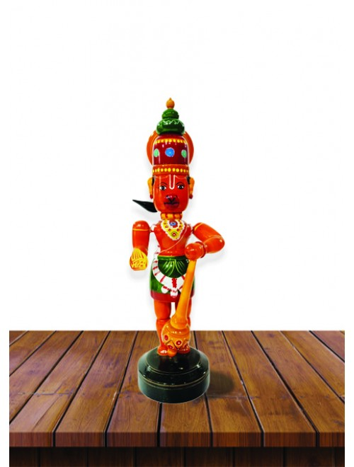 Handicraft Beautiful Lord Hanuman Design Traditional Kondapalli Bommallu Toy For Home Decor