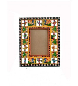 Varanasi Wooden Lacquerware & Toys Colorful Photo Frame By Om Handicrafts