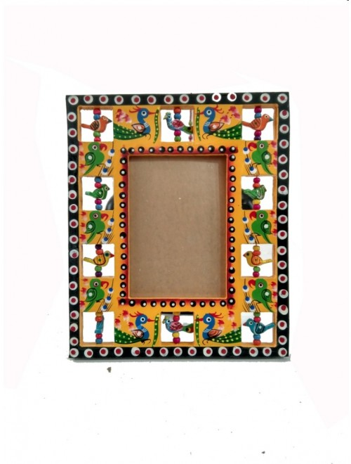 Handmade Wooden Colorful Photo Frame By Om Handicrafts