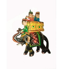 Handmade Wooden Colorful Elephant By Om Handicrafts