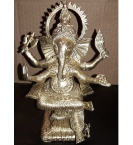 Bengal Dokra Craft Lord Ganesha Idol