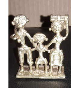 Bengal Dokra Craft Tribal Family Showpiece