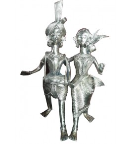 Bengal Dokra Craft Tribal Men & Women Showpiece