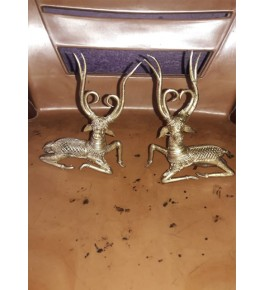 Bengal Dokra Craft Deer (Set Of 2) Showpiece