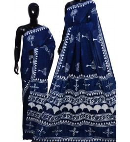 Bagru Hand Block Printing Cotton Saree For Women By Mangaleshwar