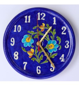 Blue Pottery Beautiful Handmade Ceramic Wall Clock