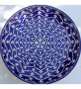 Blue Pottery Handmade Beautiful Printed Ceramic Wall Plate