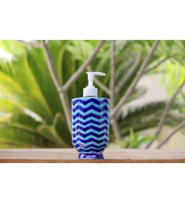 Blue Pottery Handmade Beautiful Ceramic Soap Dispenser