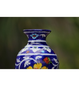 Blue Pottery Handmade Ceramic Flower Vase By Saadgee