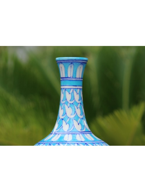 Blue Pottery Handmade Beautiful Ceramic Surahi Flower Vase