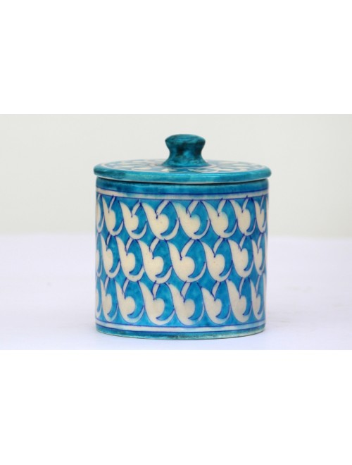 Blue Pottery Handmade Ceramic Container Jars By Saadgee