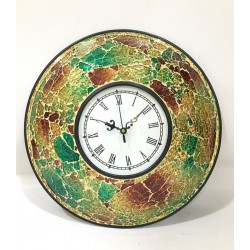 Moradabad Metal Crafts Beautiful Mosaic Dial Wall Clock