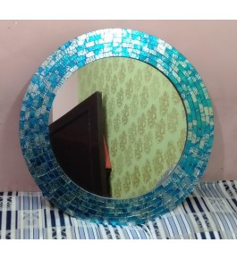 Handmade Moradabad Metal Crafts Iron Unique Design Wall Mirror