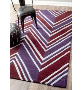Hand Woven Multicolor Trendy Look Carpet Of Bhadohi (8x5 ft)