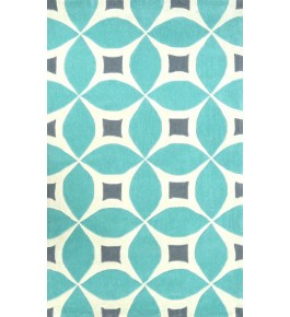Hand Tufted Sky Blue Carpet Of Bhadohi (8x5 ft)