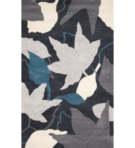 Hand Woven Colorful Flower Printed Carpet Of Bhadohi (8x5 ft)