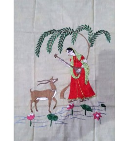 Chamba Rumal Women Silk Thread Embroidery By Indu Sharma